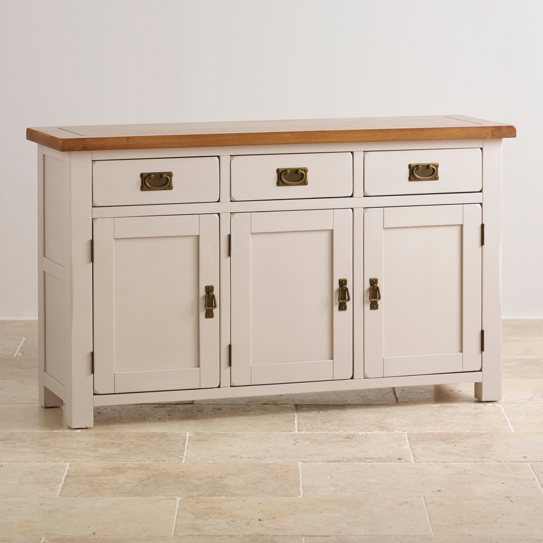Elegant painted hardwood large sideboard for Painted buffet sideboard