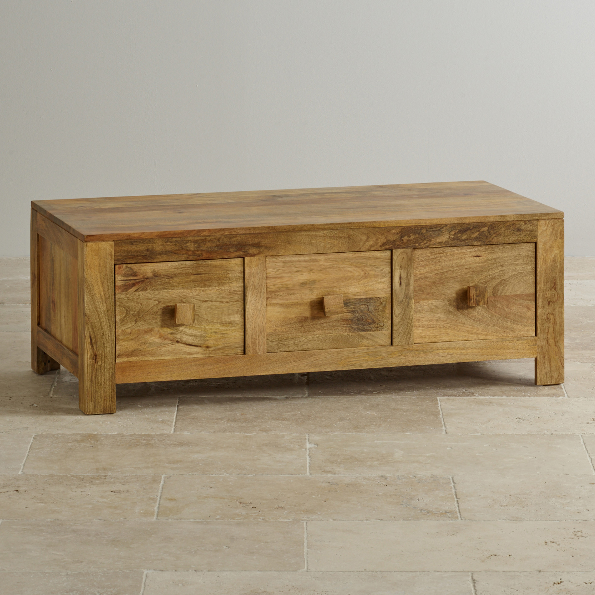 custom delivery mantis light natural solid mango 6 drawer storage coffee table bargu mango wood side table