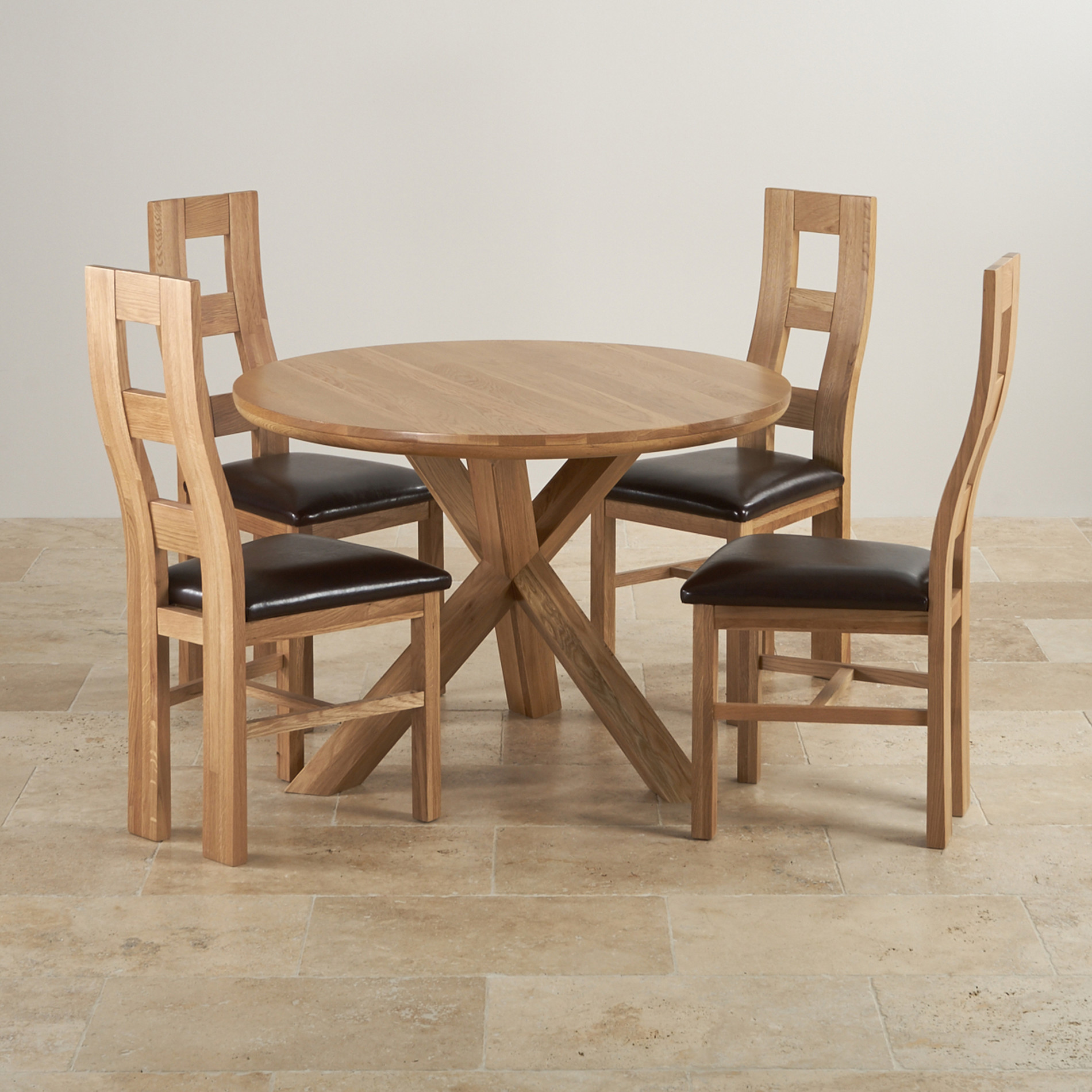 Genuine Leather Dining Room Chairs Dining Sets Tables Amp Chairs Oak Furniture Land