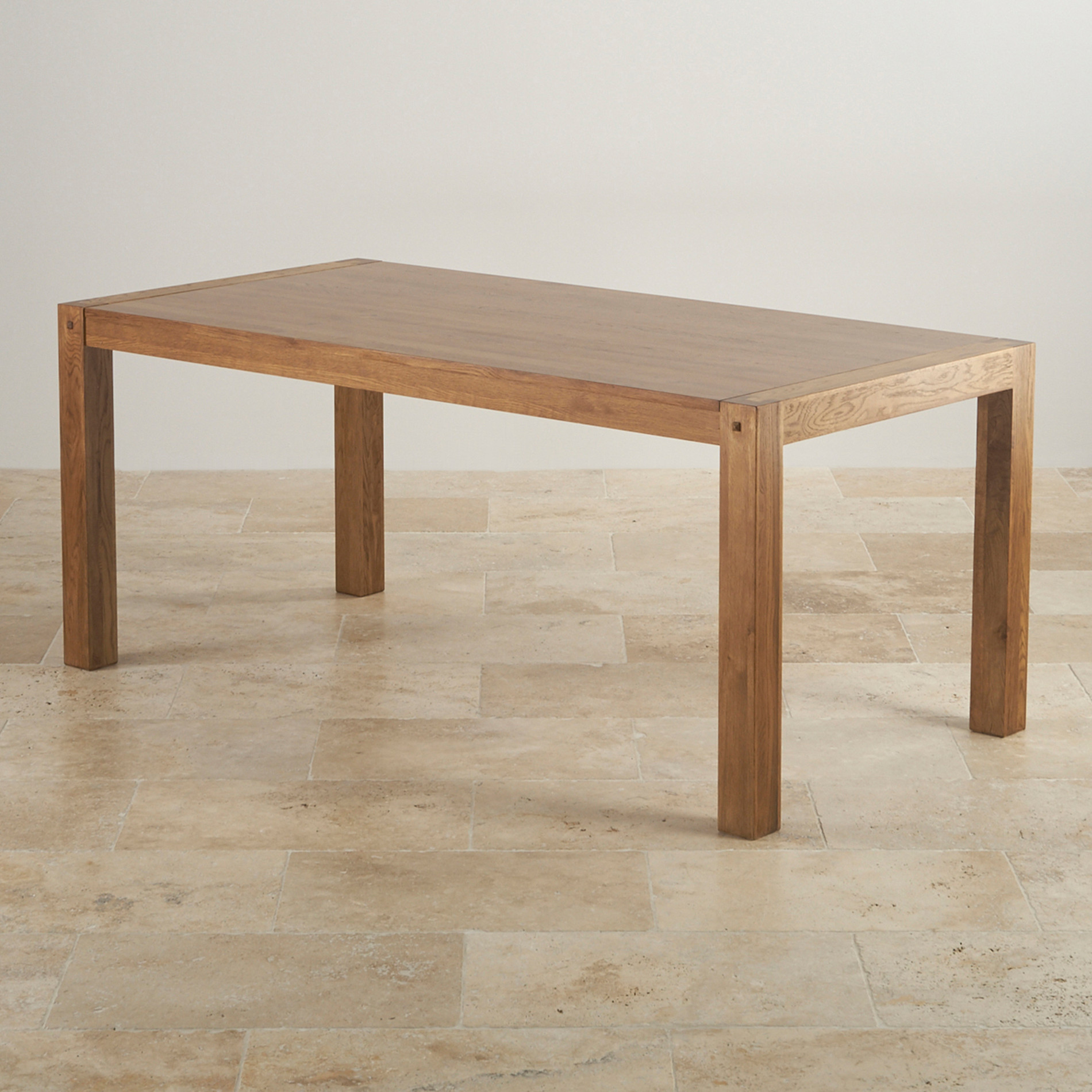 Quercus Rustic Solid Oak 6ft Dining Table