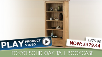 Tokyo Solid Oak Bookcase