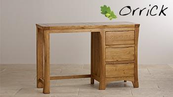 Orrick Rustic Solid Oak Dressing Table