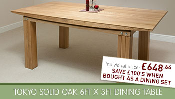 Solid hardwood dining tables