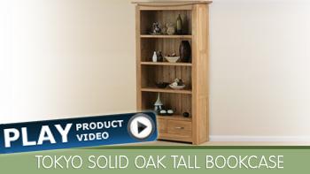 Tokyo Solid Oak Bookcase