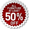 save at least 50% on living room furniture
