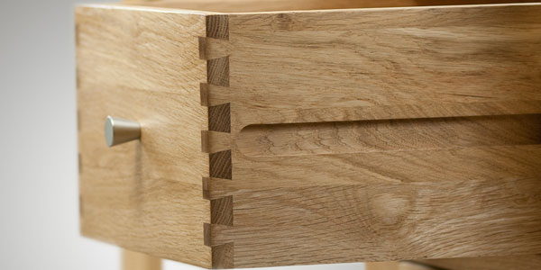 Dovetail Joints on Oak Furniture Drawer