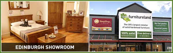 Quality solid wood furniture at Oak Furniture Land Edinburgh