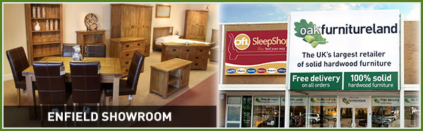 Quality solid wood furniture at Oak Furniture Land Enfield